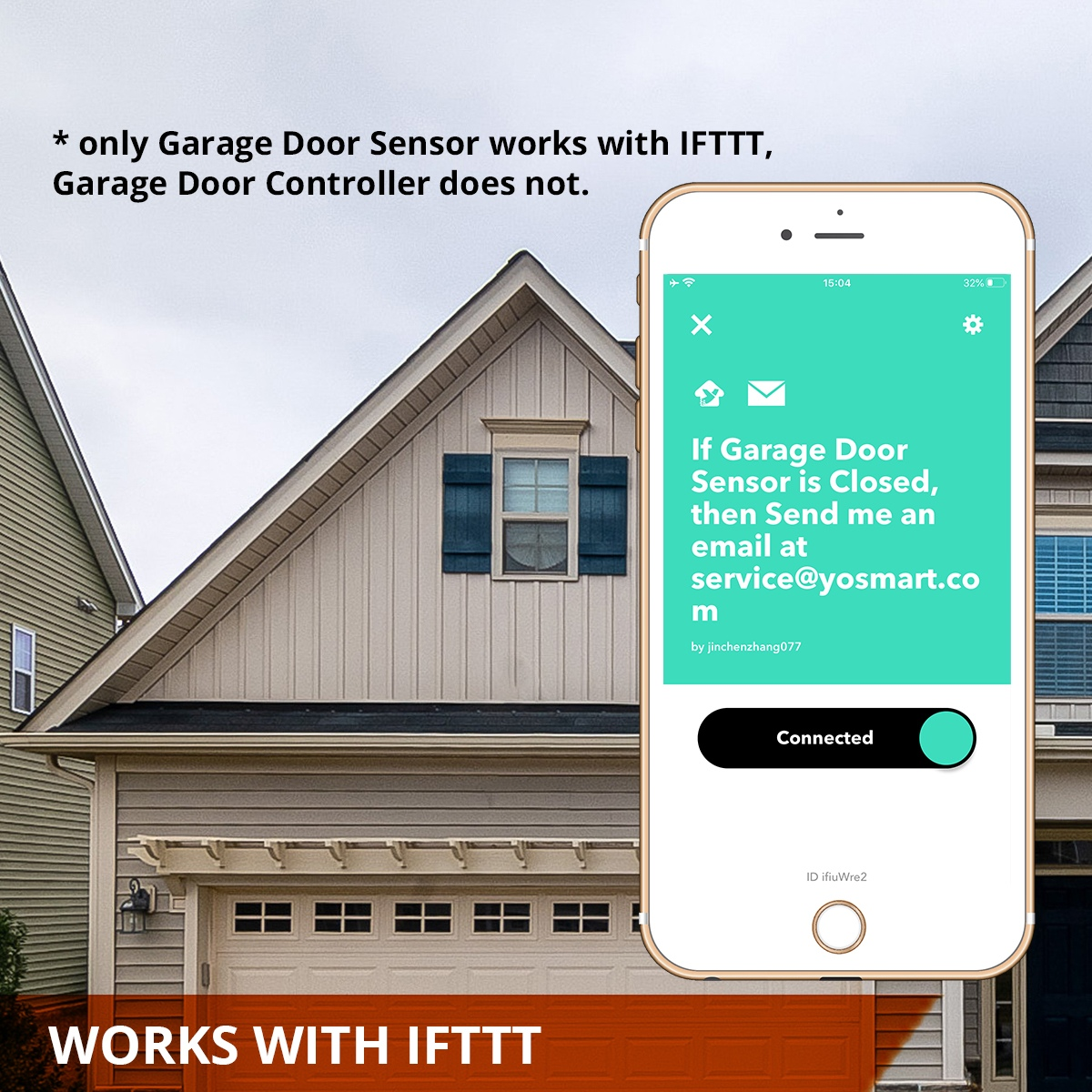Hub+Garage Door Kit YoLink Hub Included Smart Garage Door Opener LoRa enabled YoLink Garage Door Kit Garage Door Controller /& Sensor with Smartphone Control